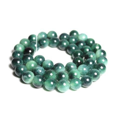 jual manik batu alam natural hijau putih white green jade bahan gelang kalung di lapak