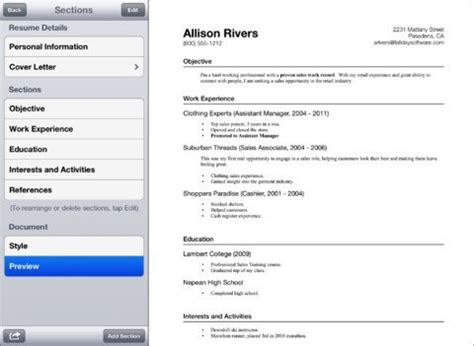 how to prepare your resume on iphone 4 resume apps