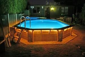 Eclairage Piscine Bois : eclairage de piscine hors sol communaut ~ Edinachiropracticcenter.com Idées de Décoration