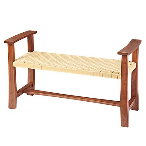 woven seat bench woodworking plan  wood magazine