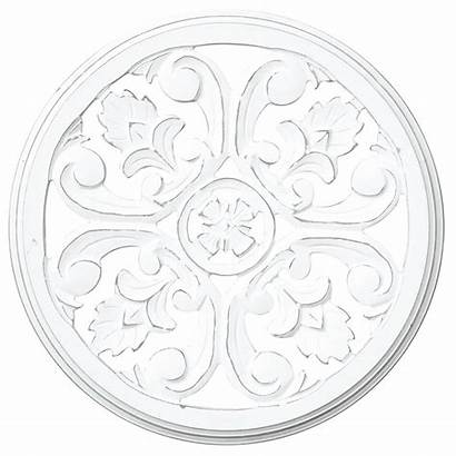 Carved Medallion Wood