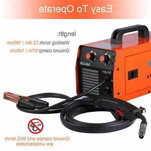 Mig Welder 120amp 110  220v Dual Volt Gasless Flux