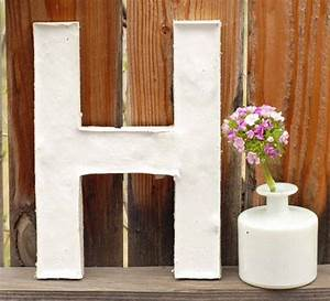 diy plaster letters create fun pinterest With plaster letters