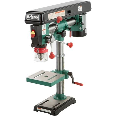 grizzly industrial  speed bench top radial drill press