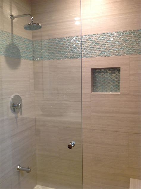 aqua  clear oval glass tile bathroom accent modern home
