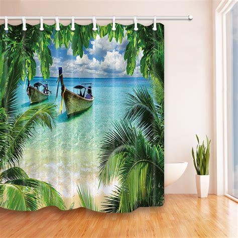 Tropical Shower by Custom Shower Curtains Etsy Tropical Islands Bath