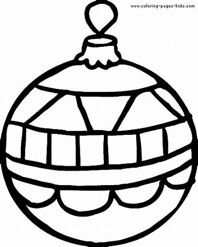Coloring Pages Christmas Ornament Printable Sheets Holiday