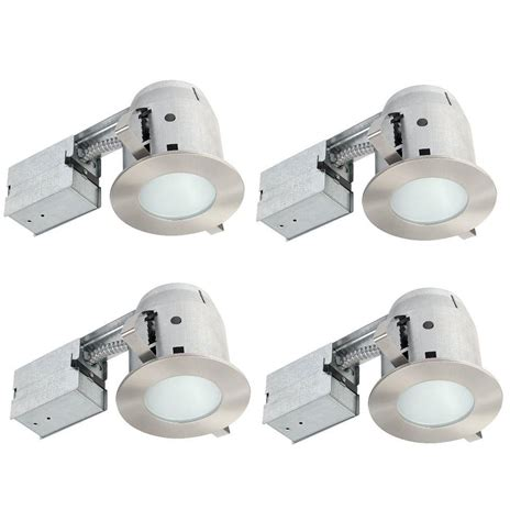 Shower Recessed Light - globe electric 4 in brushed nickel ic bathroom