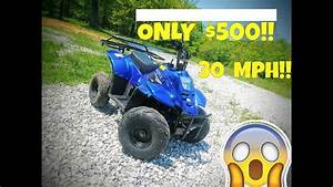 Cheap Chinese Atv Review   110cc 30mph And Only  500