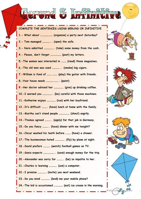 Gerunds And Infinitives Worksheet  Free Esl Printable Worksheets Made By Teachers