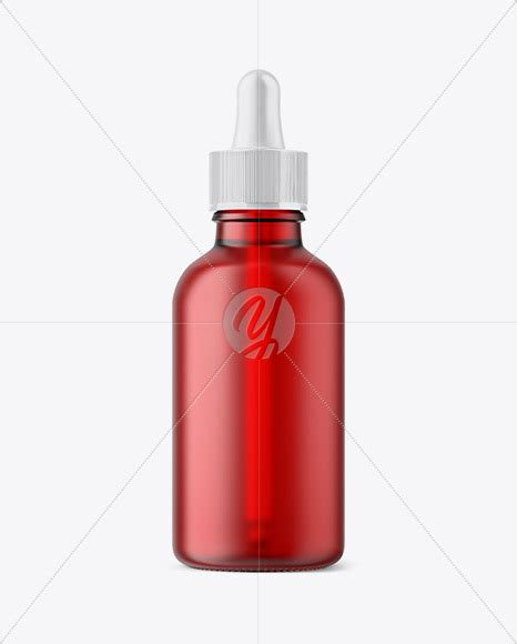 You can add your own creative in to this clean mockup. 50ml Frosted Red Glass Dropper Bottle in Bottle Mockups on ...