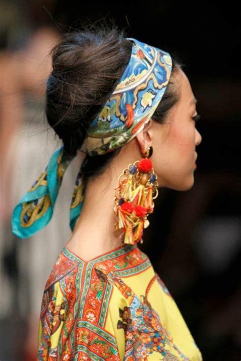 chic ideas       scarf   hair