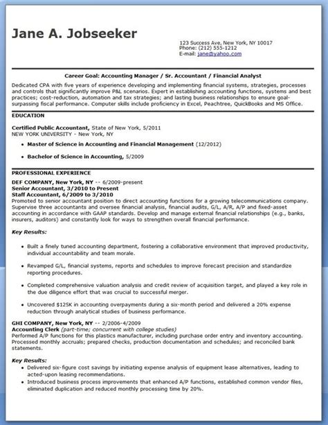 Cpa Resumes by Cpa Resume Sle Entry Level Resume Exles