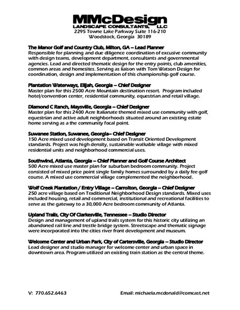 Thematic Resume Template by M Mc D Consultant Resume Template