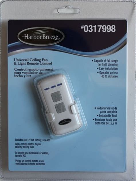 harbor ceiling fan remote battery harbor universal ceiling fan light remote