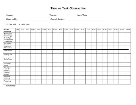 the time task chart i can t live without