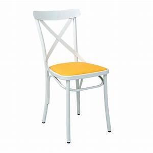 Chaise Bistrot Metal : chaise bistrot en metal avec assise tapissee cmg 15322r one mobilier ~ Teatrodelosmanantiales.com Idées de Décoration