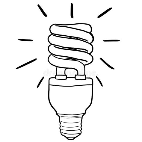 energy efficient light bulb stock illustration image