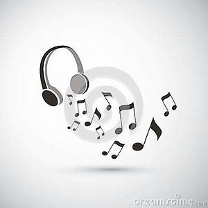 Musical Notes Flying From Headphones Stock Vector - Image ...