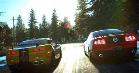 Camaro Vs Mustang Wallpaper by The Crew The Crew Run Road Chevrolet Camaro Ford