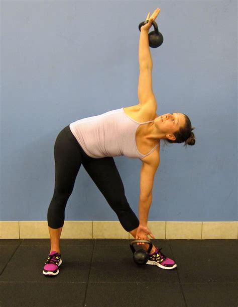 windmills bend side kettlebells fitness popsugar