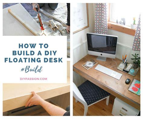 built  floating desk space saving