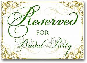 Free Reserved Table Sign Template