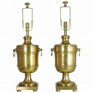 Ralph lauren brass urn lamps at 1stdibs for Ralph lauren floor lamp brass