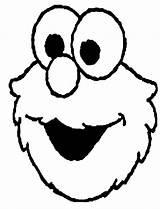 Elmo Coloring Head sketch template