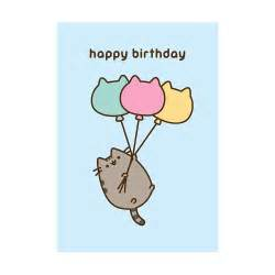 pusheen cat birthday buy the pusheen happy birthday balloons greeting card