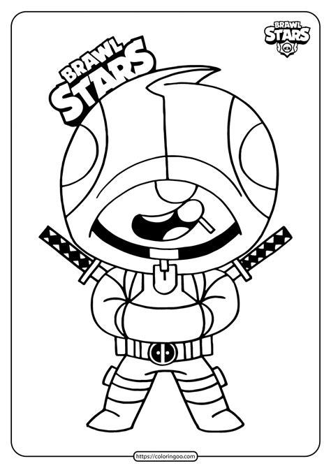 printable brawl stars ninja leon coloring pages