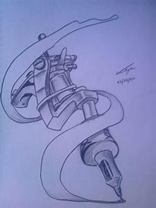Tattoo Gun- Tattoo Design by TheRagingDeadStudio on DeviantArt