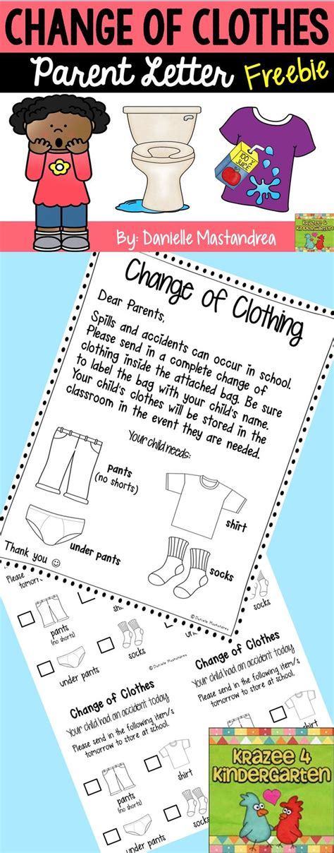 change of clothing parent letter for and spills 1000 images about parent communication on 86744