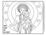 Lady Vang Coloring Catholic Roman Church St Sjtb sketch template