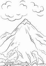 Coloring Mountain Scene Pages Printable Mountains Categories Under sketch template