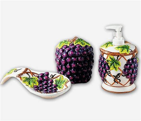 grape themed kitchen accessories grape kitchen decor theme ceramics wine grape tuscan 3909