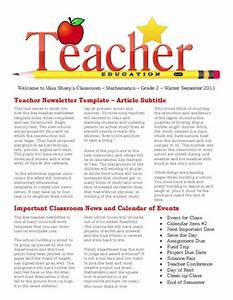 free newsletter templates for teaches and school With student newsletter templates free