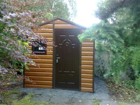 timber effect pvc steel sheds woodgrain effect sheds