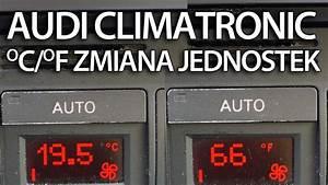 Zmiana Jednostek Temperatury Audi Climatronic  A2 A3 A4 A6