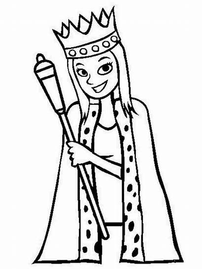 Queen Coloring Pages Printable Whitesbelfast Recommended Huangfei