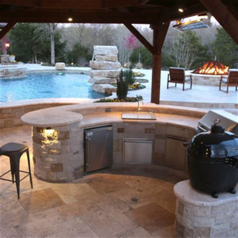 outdoor kitchen designs with pool outdoor kitchen frisco tx prestige pool and patio 7237