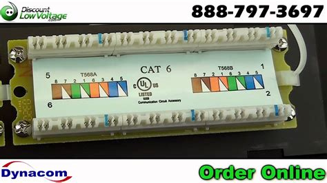 Cat Port Wall Mount Network Ethernet Patch Panel
