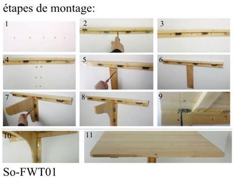 table de cuisine rabattable accueil boutique table murale rabattable en bois