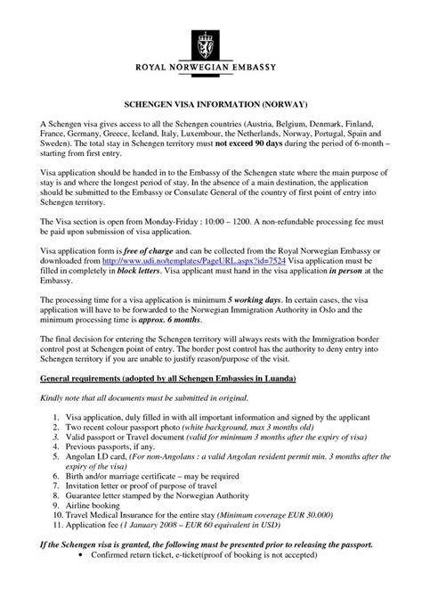 Free Invitation Letter Format For Schengen Visa Letter