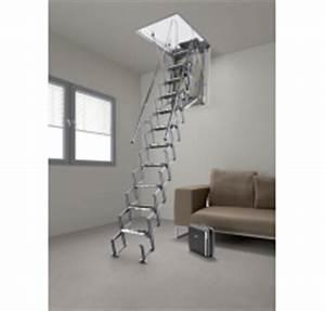 Echelle Escamotable Pour Grenier : escalier grenier electrique ~ Melissatoandfro.com Idées de Décoration