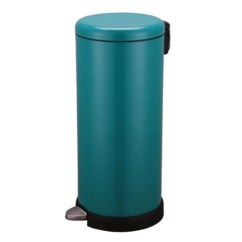 poubelle cuisine pedale poubelle de cuisine à pédale 30l inox vert sarl carremeuble