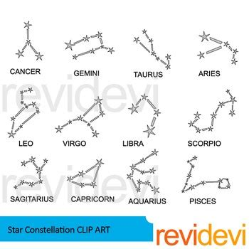 constellation of capricorn worksheet constellation clip by revidevi teachers pay