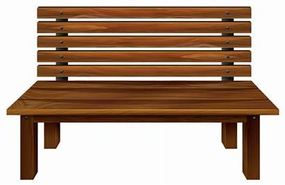 Bench Clipart Wooden Park Wood Transparent Benches