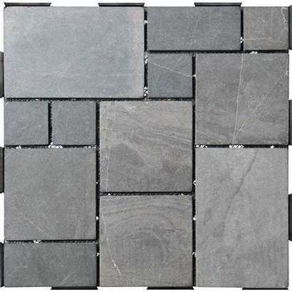 Tiles Garden Grey Tile Patchwork Stone Deck