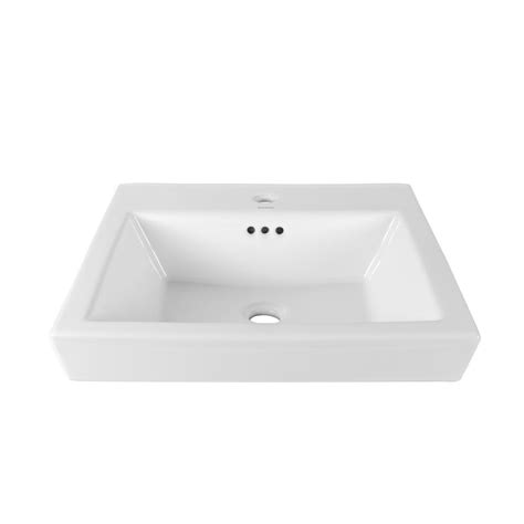 square drop in bathroom sink american standard town square countertop sink with center